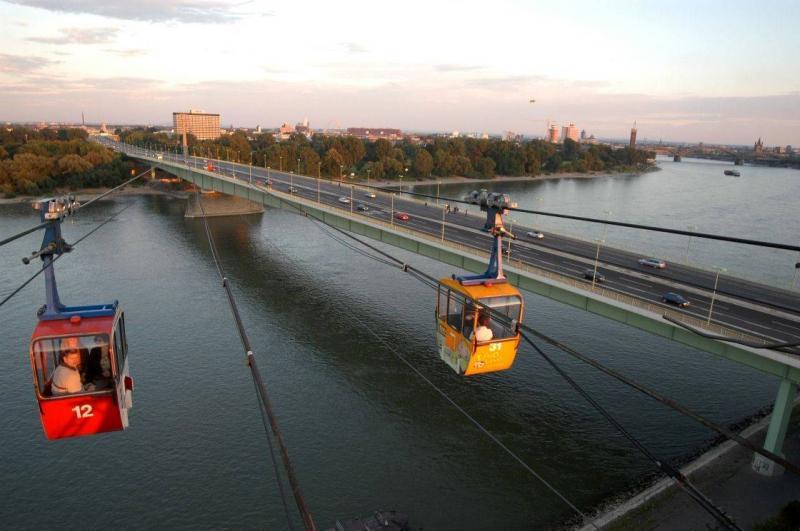 Kölner Seilbahn in Köln, Ingenieurbau - baukunst-nrw