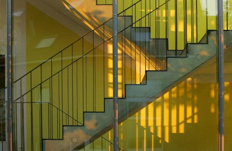 Treppenhaus architektur  St. Josefs Altenwohnheim in Neuss, Architektur - baukunst-nrw