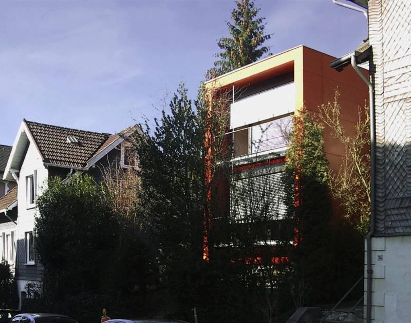 Erweiterungsbau wohnhaus in siegen box orange in siegen architektur architektur baukunst nrw - Architektur siegen ...