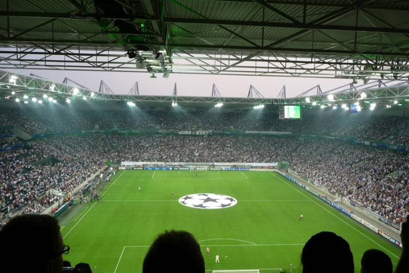 Fußballstadion im Borussia-Park Mönchengladbach in Mönchengladbach ...