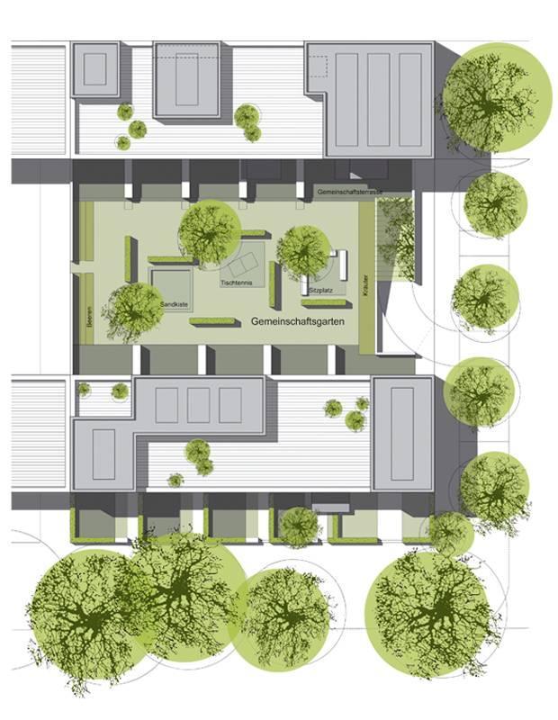 wohnbebauung s lzer freu n de in k ln architektur. Black Bedroom Furniture Sets. Home Design Ideas