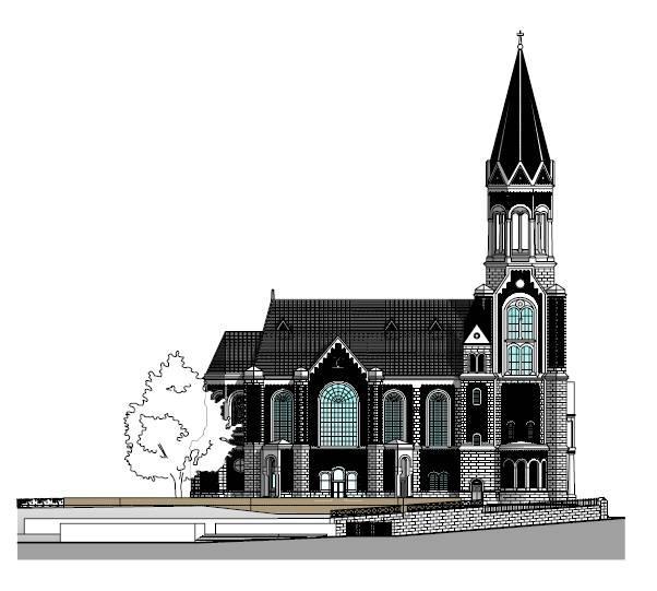 kreuzeskirche essen in essen architektur baukunst nrw. Black Bedroom Furniture Sets. Home Design Ideas