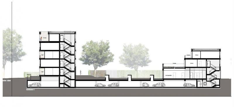 Wohnbauten s lzparc an der neuenh fer allee in k ln - Architektur schnitt ...