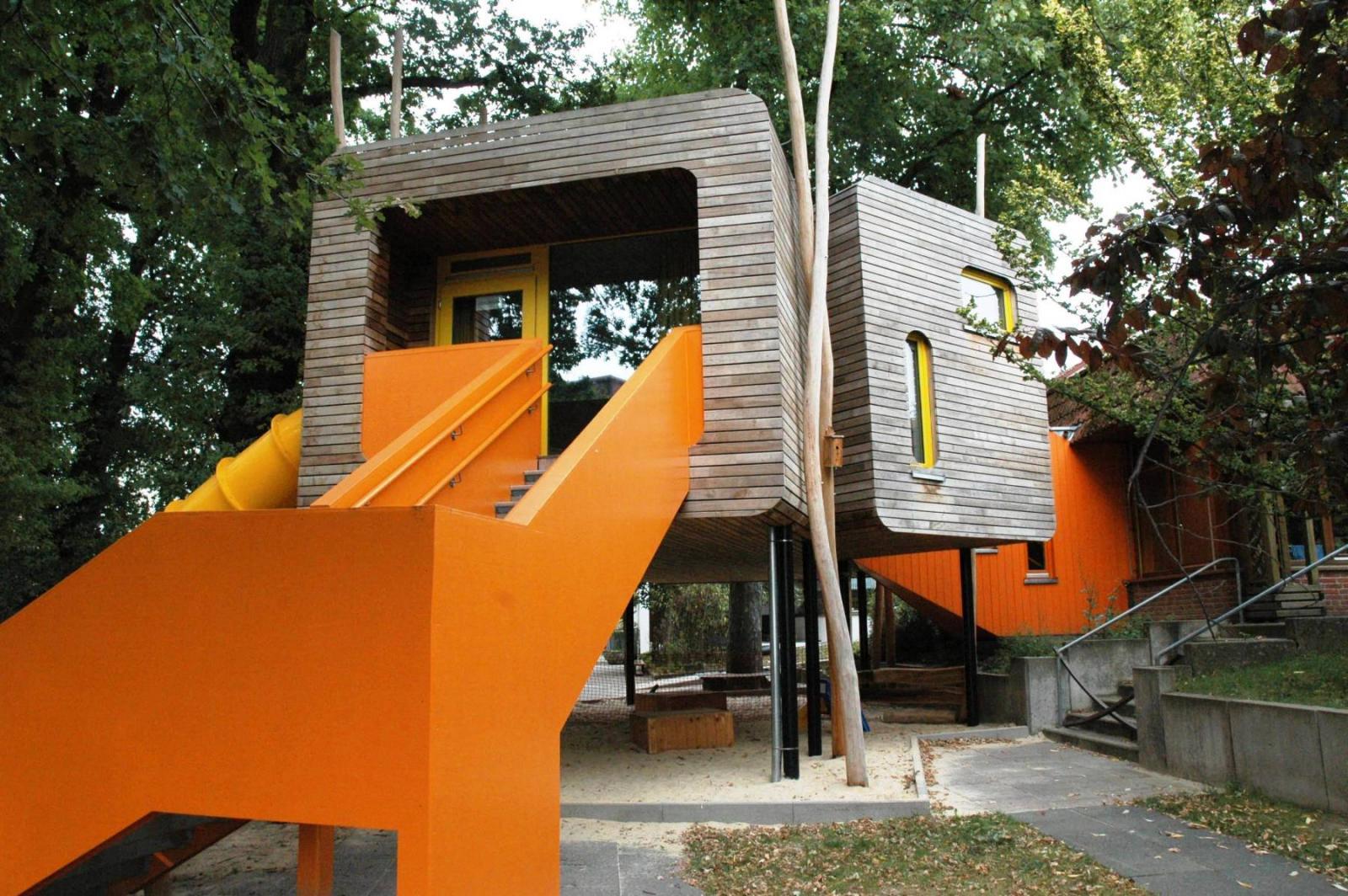 baumhaus der kindertageseinrichtung b nde b nde architektur baukunst nrw. Black Bedroom Furniture Sets. Home Design Ideas